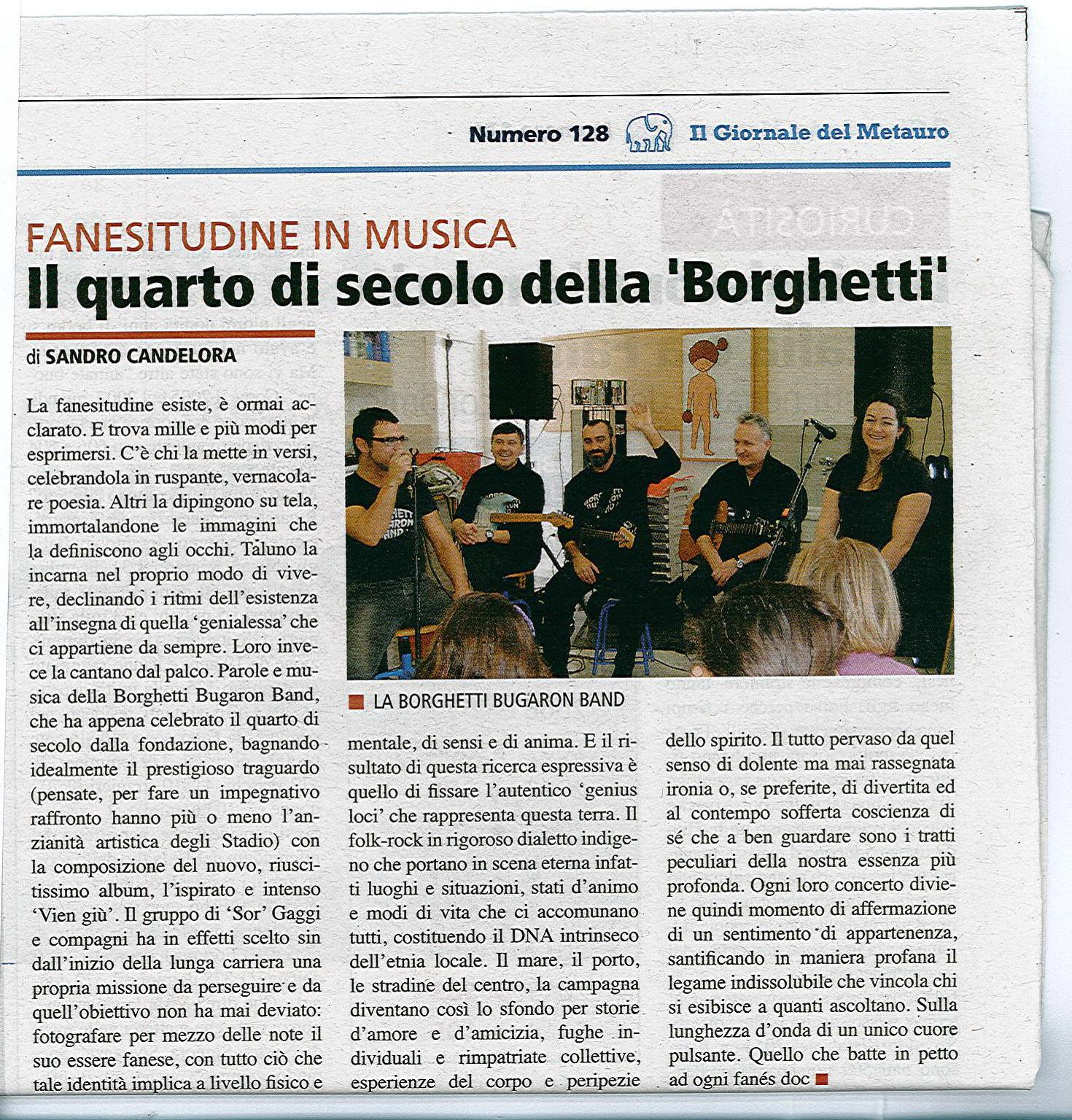 Borghetti Bugaron Band su Il Metauro 2015