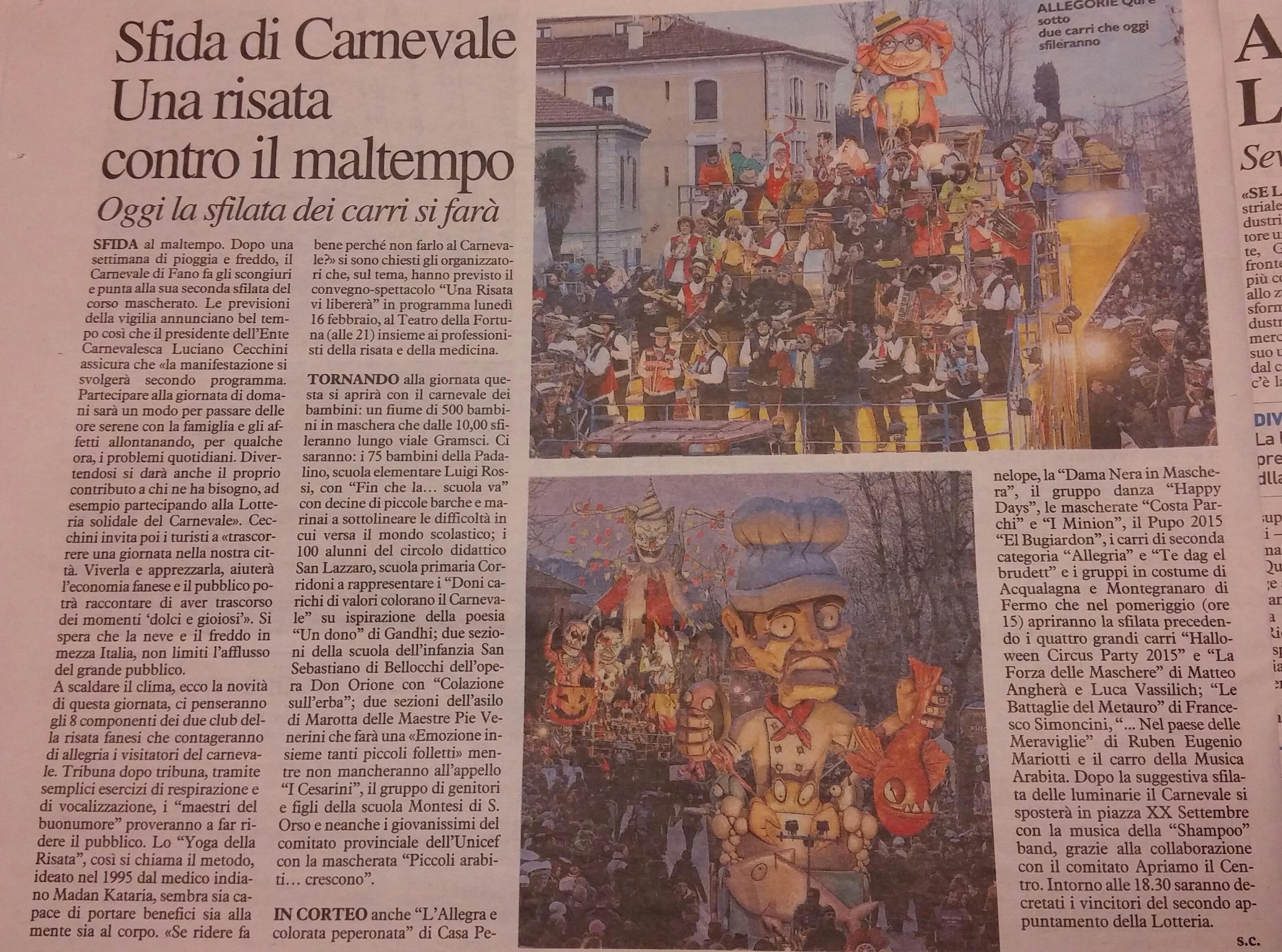 Borghetti Bugaron Band al Carnevale di Fano 2015