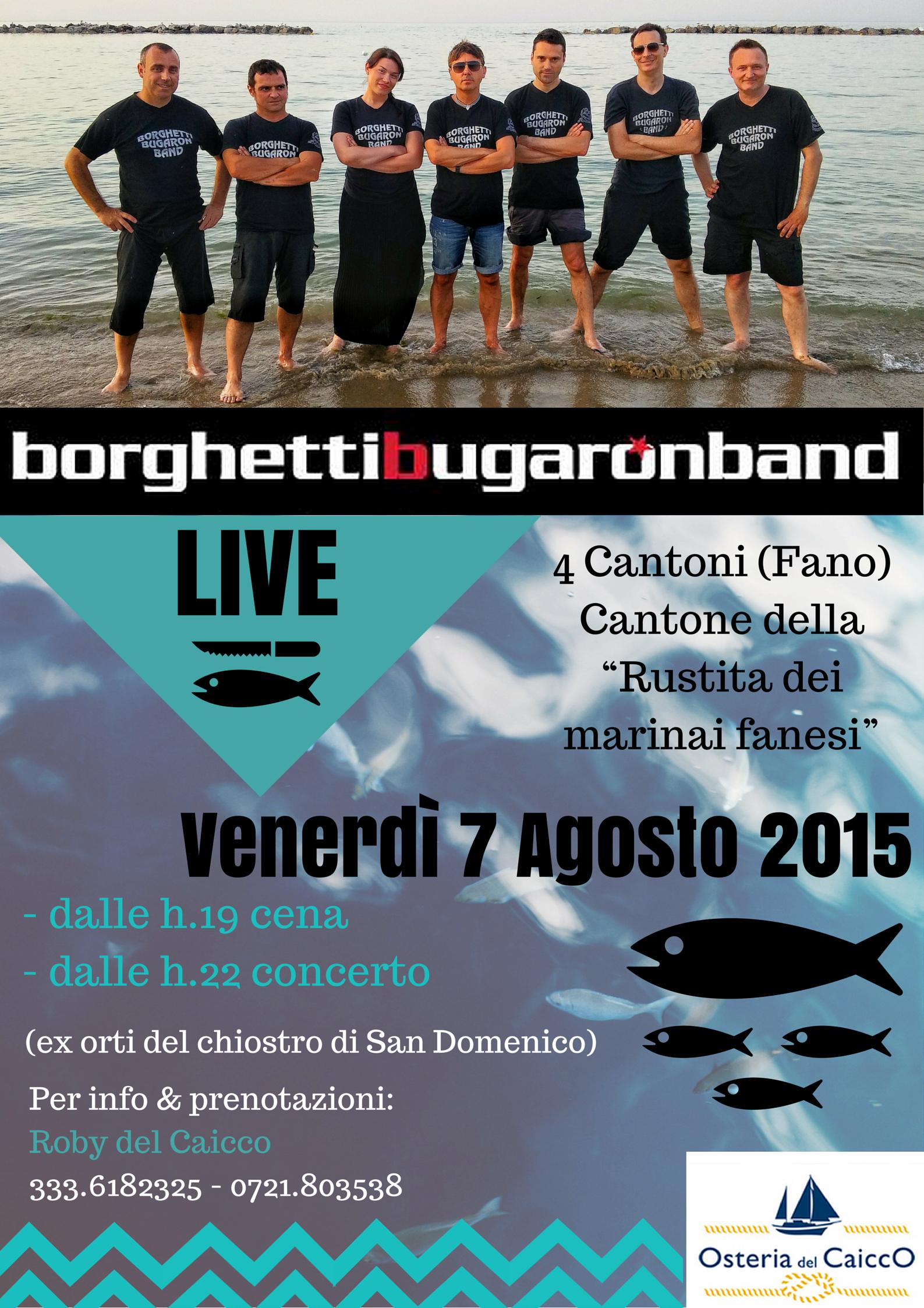 Festa dei Quattro Cantoni 2015 - Caicco - Borghetti Bugaron Band
