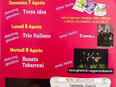 Grigliate in festa - Monte Cucco - Borghetti Bugaron Band - 2016